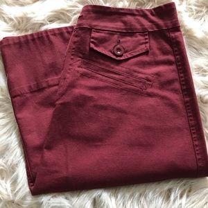 • Baccini Maroon midi skirt • size 8 •